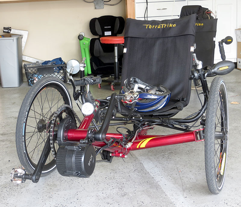 TerraTrike Tandem with BBS02 and 48v lithium battery Mid-drive