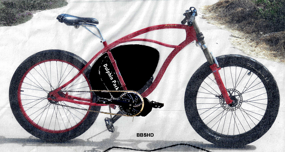Mid-drive BBSHD electric bicycle kit GT DYNO cruiser